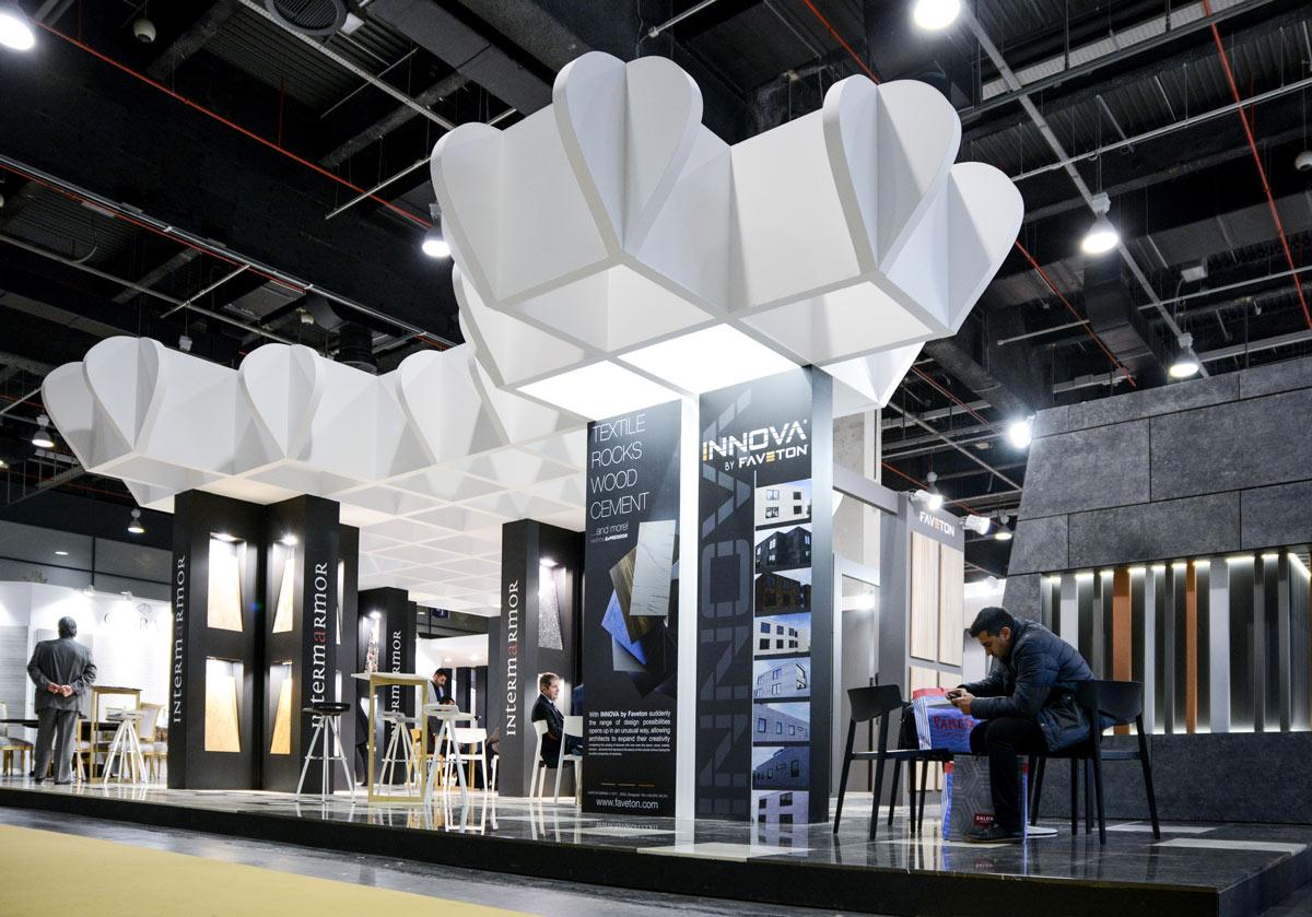 Intermarmor - Diseño de stand - bañuls - Carpinteria efimera